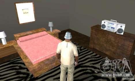 Maisons neuves à coffre intérieurs pour GTA San Andreas dixième écran