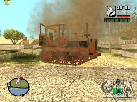 Tracteur DT-75 Postman pour GTA San Andreas vue de dessous