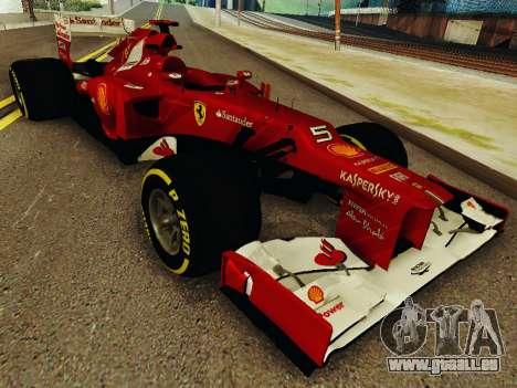 Ferrari F2012 pour GTA San Andreas vue arrière