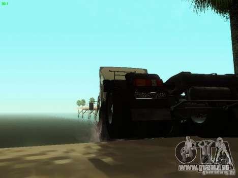 KAMAZ 6460 für GTA San Andreas Rückansicht