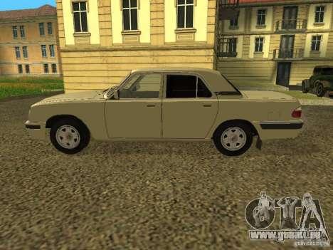 GAZ Volga 31105 restylage pour GTA San Andreas sur la vue arrière gauche