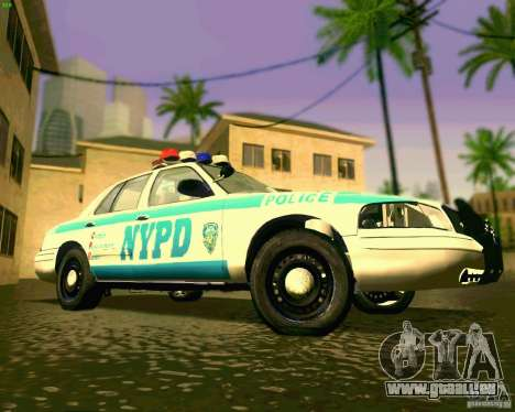 Ford Crown Victoria 2003 NYPD police pour GTA San Andreas vue intérieure