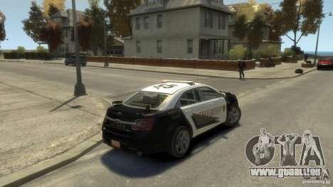 Ford Taurus Sheriff 2010 für GTA 4 linke Ansicht