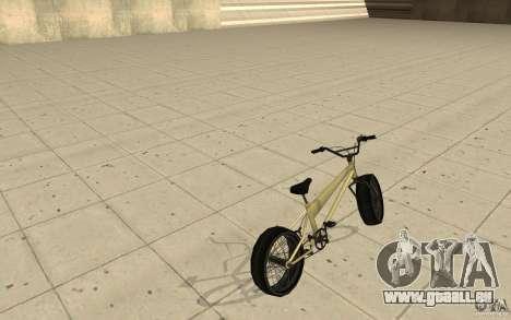 BMX Long pour GTA San Andreas sur la vue arrière gauche