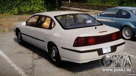 Chevrolet Impala Unmarked Police 2003 v1.0 [ELS] pour GTA 4 est un côté