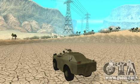 BRDM-1 Skin 1 für GTA San Andreas rechten Ansicht