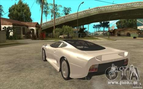 Jaguar XJ 220 pour GTA San Andreas sur la vue arrière gauche
