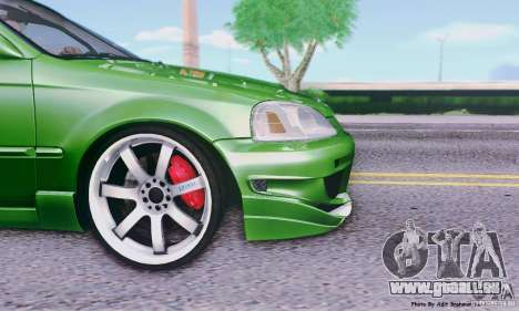Honda Civic Si Sporty pour GTA San Andreas sur la vue arrière gauche