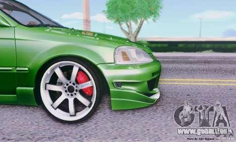 Honda Civic Si Sporty für GTA San Andreas zurück linke Ansicht