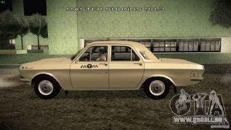 Volga GAZ-24 Taxi 01 pour GTA San Andreas laissé vue