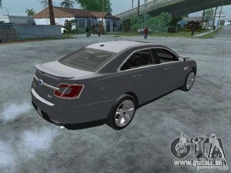 Ford Taurus pour GTA San Andreas sur la vue arrière gauche
