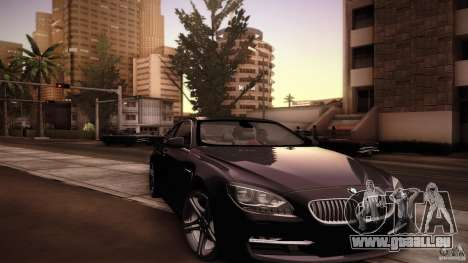 BMW 640i Coupe für GTA San Andreas obere Ansicht