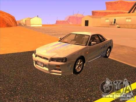 Nissan Skyline R34 Tunable für GTA San Andreas