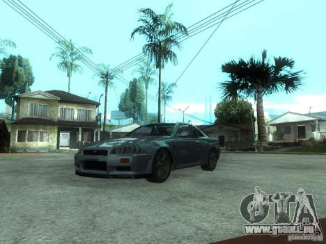 Nissan Skyline GT-R34 V-Spec für GTA San Andreas