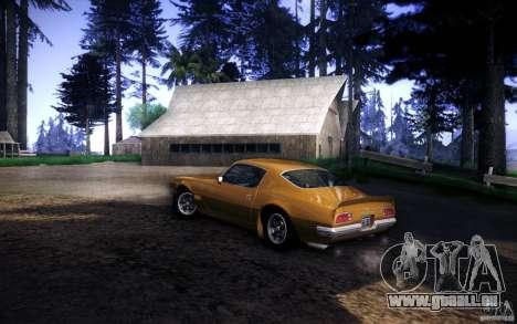Pontiac Firebird 1970 für GTA San Andreas zurück linke Ansicht