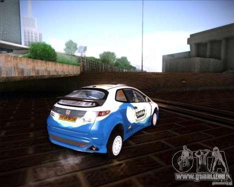 Honda Civic Type-R (Rally team) pour GTA San Andreas sur la vue arrière gauche