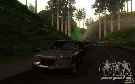 Lincoln Towncar 1991 pour GTA San Andreas vue de côté