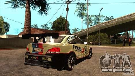 BMW 135i Coupe GP Edition Skin 1 pour GTA San Andreas vue de droite