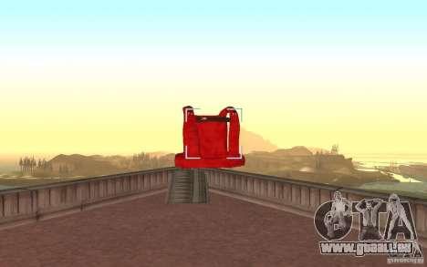 Global fashion parachute pour GTA San Andreas quatrième écran