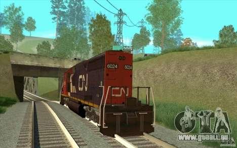 Canadian National SD40U pour GTA San Andreas sur la vue arrière gauche