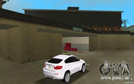 BMW X6M 2010 pour une vue GTA Vice City de la droite