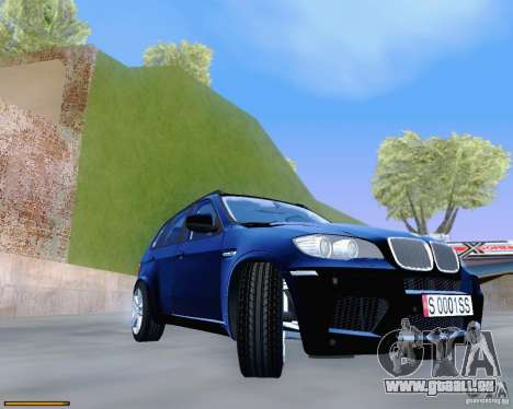 BMW X5M für GTA San Andreas Innenansicht
