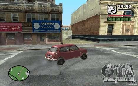 Mini Cooper S für GTA San Andreas rechten Ansicht