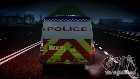 Ford Transit Polish Police [ELS] pour GTA 4 est une vue de dessous