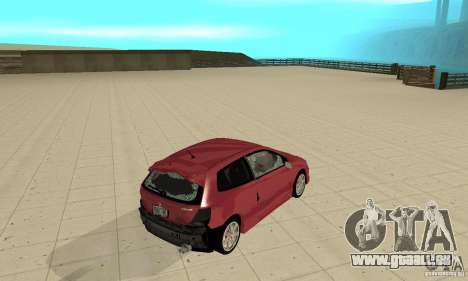 Honda Civic Type R - Stock + Airbags für GTA San Andreas obere Ansicht