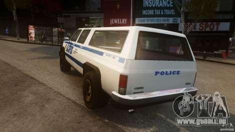 Declasse Yosemite Police pour GTA 4 Vue arrière de la gauche