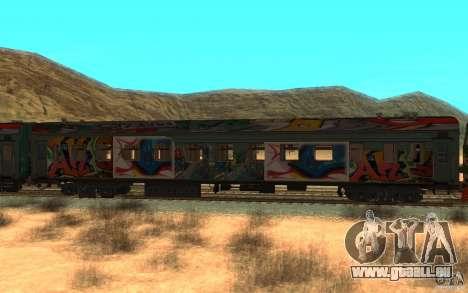 New Graffity Train für GTA San Andreas linke Ansicht
