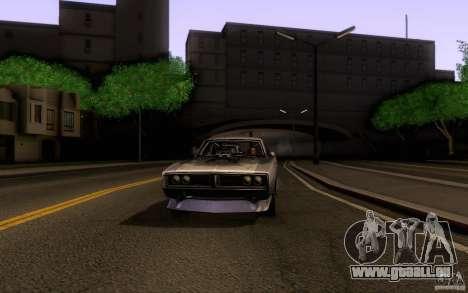 Dodge Charger RT pour GTA San Andreas vue arrière