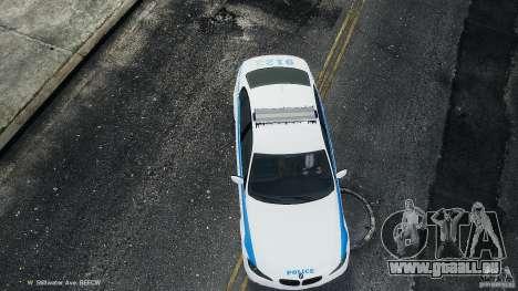 NYPD BMW 350i pour GTA 4 est une vue de l'intérieur