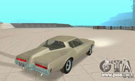 Buick Riviera 1972 Boattail pour GTA San Andreas laissé vue