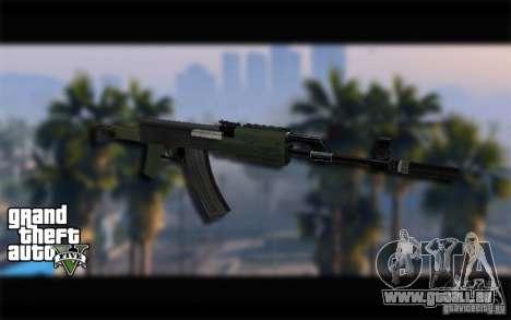 AK-47 avec un silencieux de GTA 5 (Final) pour GTA San Andreas