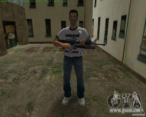 M-16 de : Scarface pour le quatrième écran GTA Vice City