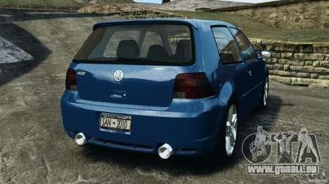Volkswagen Golf 4 R32 2001 v1.0 pour GTA 4 Vue arrière de la gauche