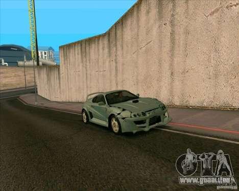 Toyota Supra from MW pour GTA San Andreas sur la vue arrière gauche