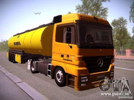 Remorque pour Mercedes-Benz Actros Rosneft pour GTA San Andreas vue de droite