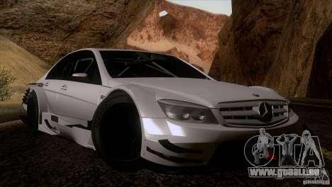 Mercedes Benz C-Class Touring 2008 pour GTA San Andreas vue intérieure
