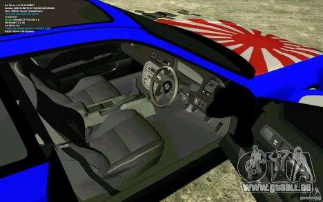 Honda Prelude pour GTA San Andreas vue arrière