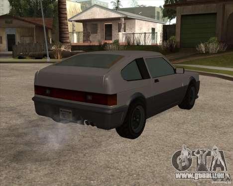 Blistac améliorée pour GTA San Andreas vue de droite