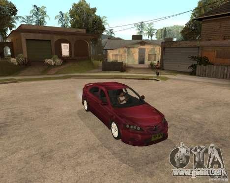 Mazda 6 Sport pour GTA San Andreas sur la vue arrière gauche