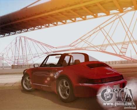 Porsche 911 Carrera 4 Targa (964) 1989 pour GTA San Andreas vue arrière