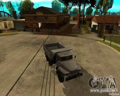 Ural camion à benne basculante 55571 pour GTA San Andreas laissé vue