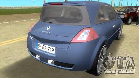 Renault Megane Sport für GTA Vice City zurück linke Ansicht