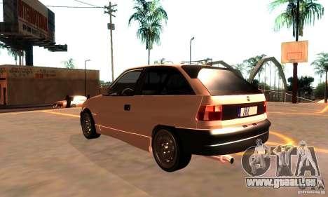 Opel Astra 1993 für GTA San Andreas zurück linke Ansicht