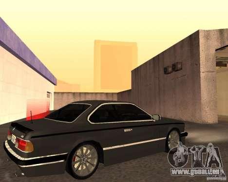 BMW M6 E24 pour GTA San Andreas vue intérieure