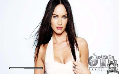 Démarrage écrans HD (Megan Fox) pour GTA San Andreas troisième écran