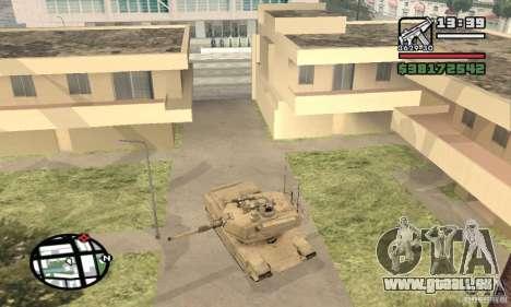 M1A2 Abrams TUSK pour GTA San Andreas vue de droite